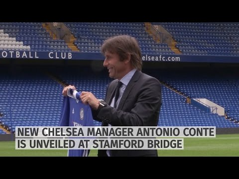 New Chelsea Manager Antonio Conte Unveiled At Stamford Bridge