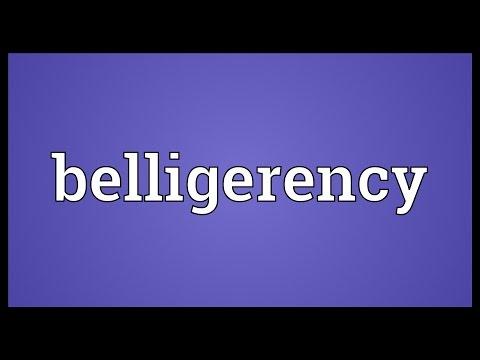Header of belligerency