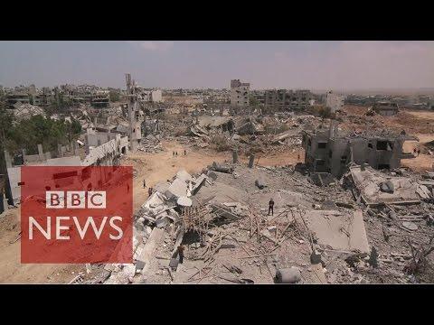Gaza residents return to ruined homes - BBC News