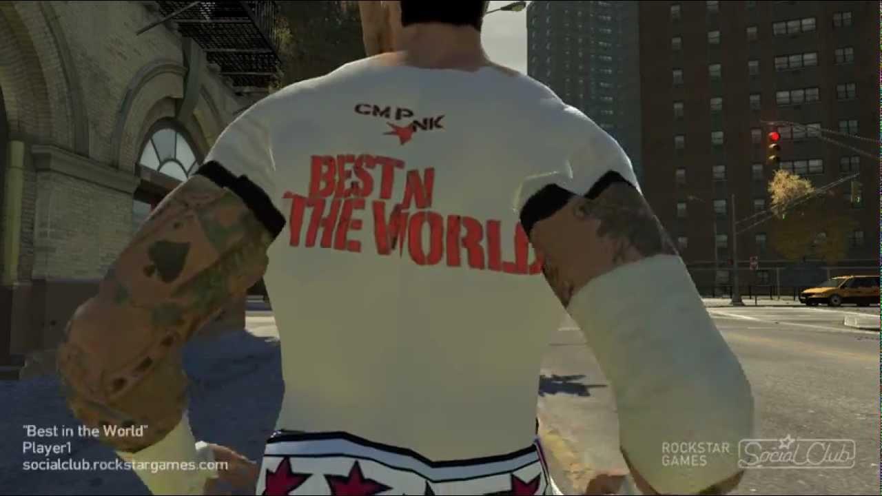 Gta Iv Cm Punk Best In The World T Shirt Work In