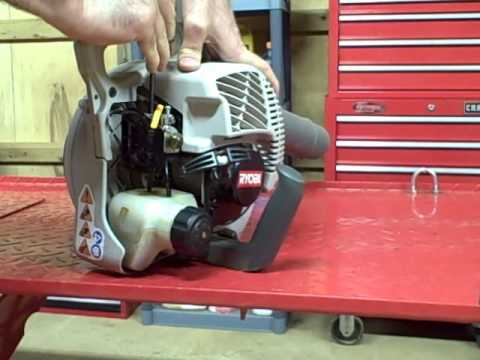 Small Engine Repair: Adjusting the low speed carburetor circuit on a Ryobi Blower