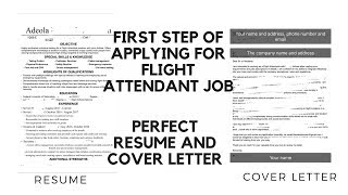 How To Write a Powerful RESUME and COVER LETTER | STAGE 1 OF APPLYING FOR FLIGHT ATTENDANT JOB