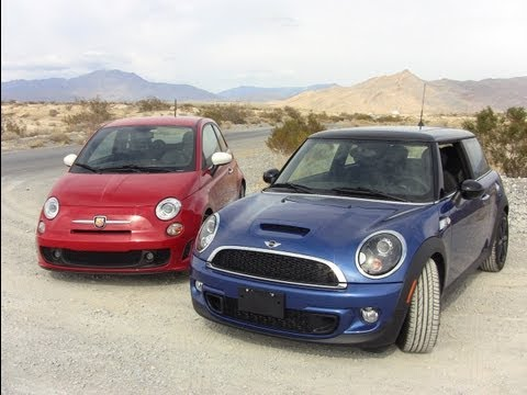 2012 MINI Cooper S versus Fiat 500 Abarth 0-60 MPH Mashup Review
