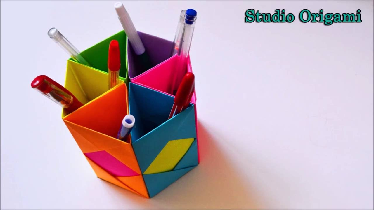 Как из бумаги сделать подставку для ручек