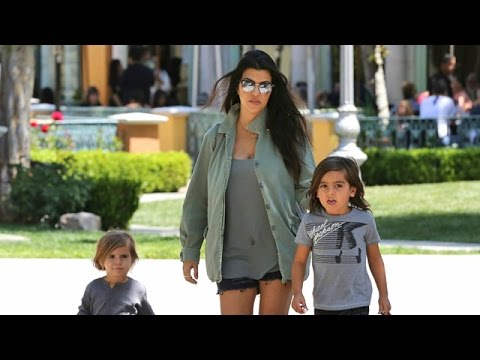 X17 EXCLUSIVE - Kourtney Kardashian Asked About Introducing Bruce Jenner As Grandma To Her Kids