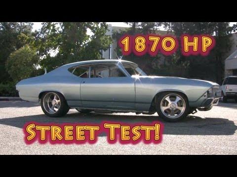 1870 HP Chevelle Street Test.  Nelson Racing Engines.  Tom Nelson.  1969 Chevelle. NRE.