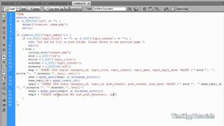 PHP Series - Building A PHP MySQL Forum Tutorial Series Part 3.3 - Creating Topics