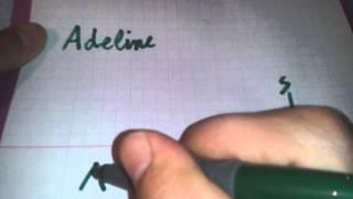 Adeline en arabe. apprendre à écrire Adeline en arabe