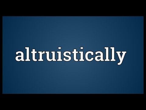 Header of Altruistically