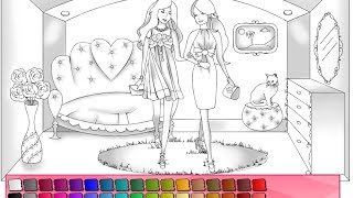 Barbie Doll Coloring Pages For Kids - Barbie Doll Coloring Pages