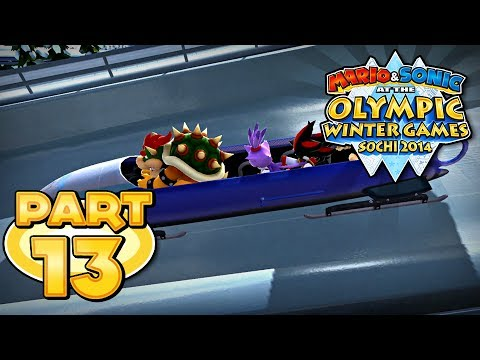 Mario and Sonic at the Sochi 2014 Olympic Winter Games - Part 13: 4-Man Bobsleigh