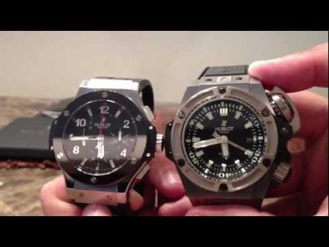 Hublot Big Bang 44mm vs Hublot Oceanographic Diver 48mm Watch Authentic (Limited Edition Titanium)