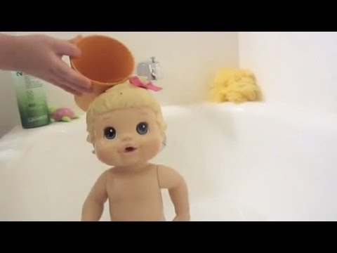 How to give your baby doll a bath