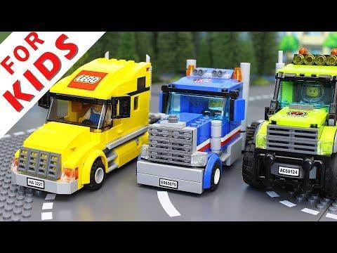 LEGO Experemental Cars and Trucks Compilation. Lego Stop Motion Animation