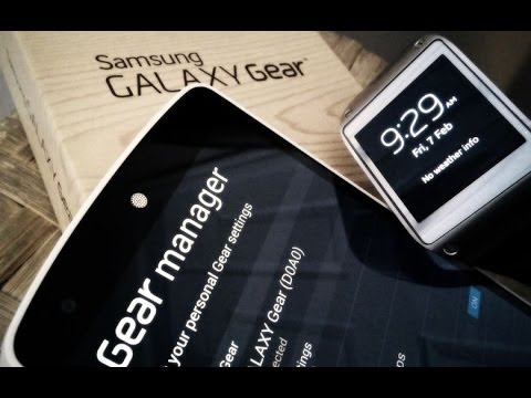 Using the Galaxy Gear with the Nexus 5