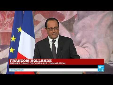 REPLAY - Premier grand discours de François Hollande sur l'immigration