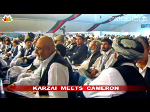 President Karzai meets PM David Cameron to discuss peace in Afghanistan