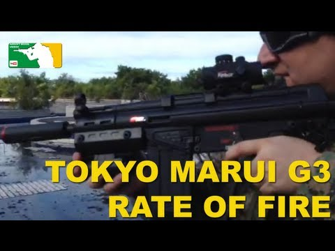 Testing the Rate of Fire of the Tokyo Marui G3 SAS HC Airsoft Gun