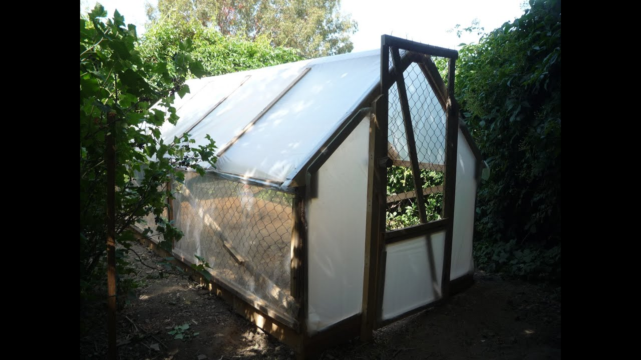 Home Made 5 Dollar Greenhouse Serre En R Cup Invernadero