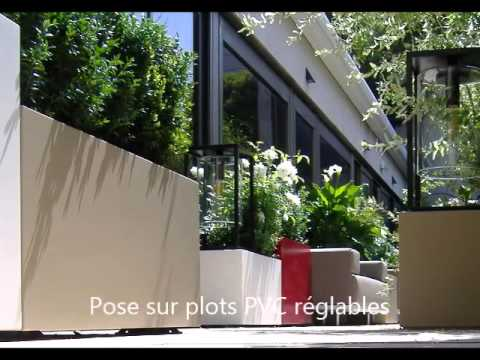 Image'In Planters for a custom achievement on a terrace in Paris