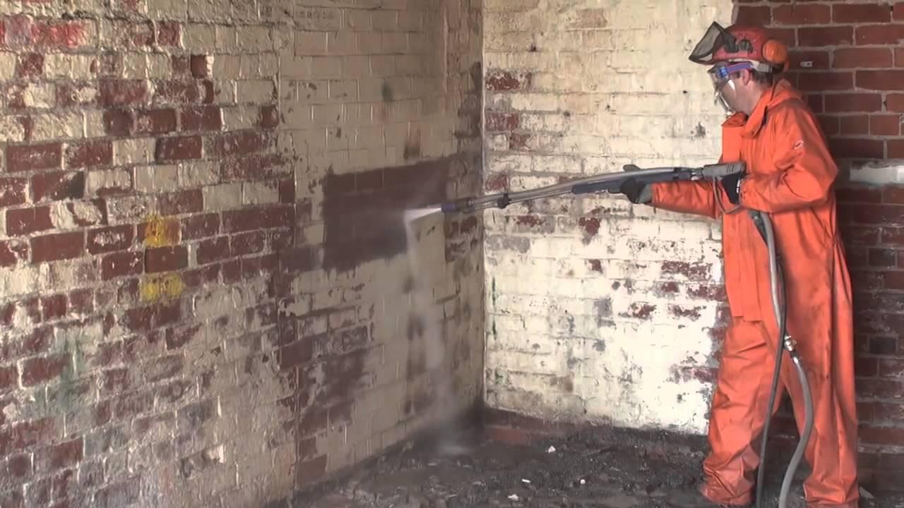 Décapage par hydro-sablage - YouTube