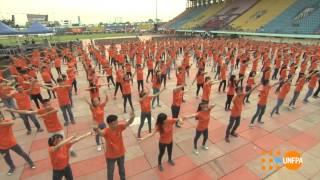 Flashmob Kết nối trái tim người Việt Trẻ UNFPA - ROCKSTORM7 2014 tại TP Hồ Chí Minh
