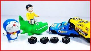 Đồ chơi Doremon hoạt hình #7 - cá sấu xanh giúp Nobita lắp ráp xe oto