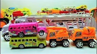 super truck plays with mother truck, truck toys and car toys for kids