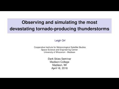 Madison College Dark Skies Seminar presentation, April 16, 2016