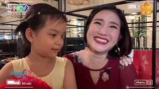 Cát Tường xúc động với em bé 7 tuổi theo bố đi hẹn hò vừa gặp cô giáo hiền lành đã thèm gọi tiếng MẸ