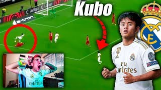 REACCIONO A TAKEFUSA KUBO *DEBUT REAL MADRID*