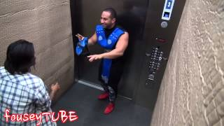 Прикол над людьми в  лифте MORTAL KOMBAT