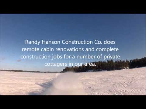 Sledding from Hideaway Lodge to Shady Rest Island, Crow Lake (Kakagi Lake)
