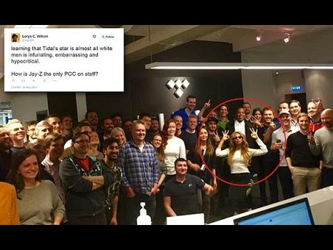 Fans Are Upset that Jay Z and Beyonce Showed Picture of Tidal Staff With NO Black People but Them!