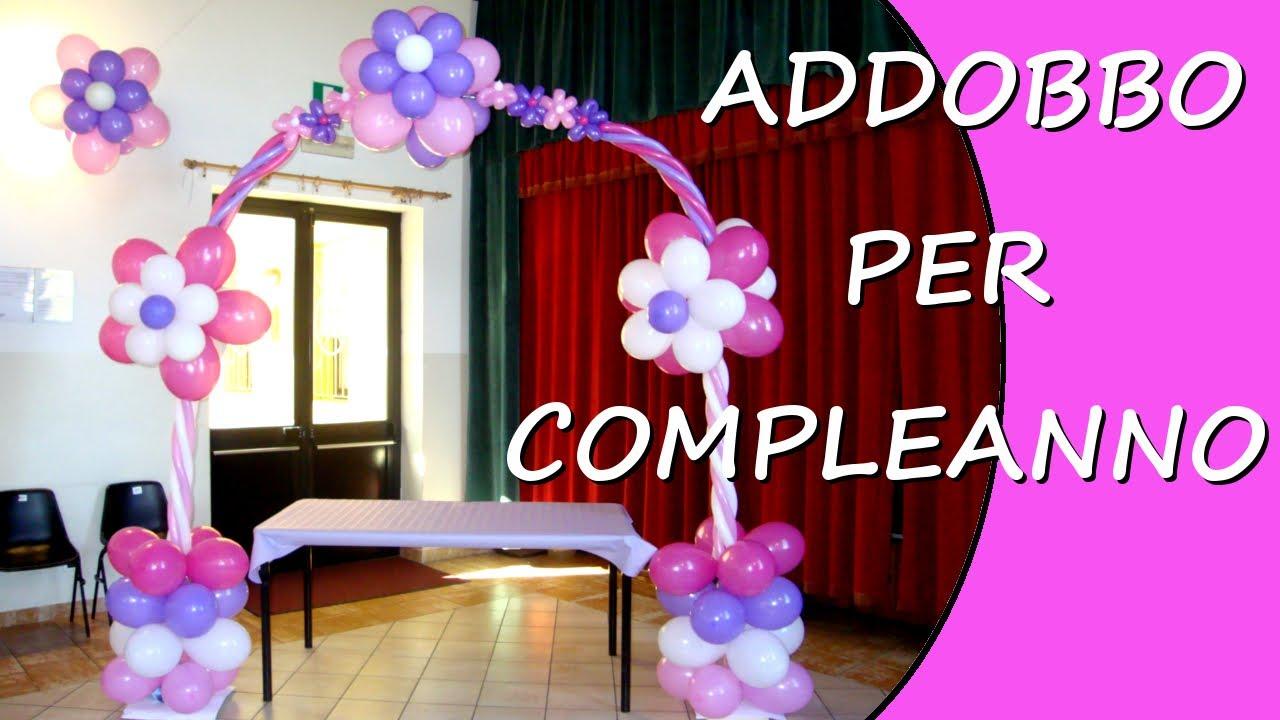Addobbo per festa di compleanno decorazioni con for Addobbi per feste in piscina