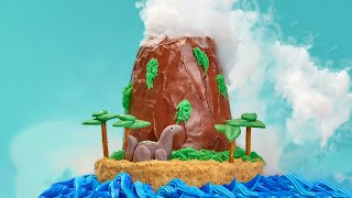 HOW TO MAKE A VOLCANO CAKE - NERDY NUMMIES