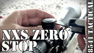 Nightforce NXS F1 Zero Stop Adjustment Tutorial