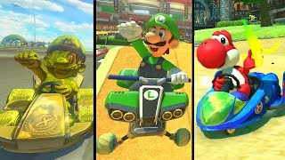 Mario Kart 8 Deluxe - All Characters W/ Gameplay + All 48 Tracks (200cc)