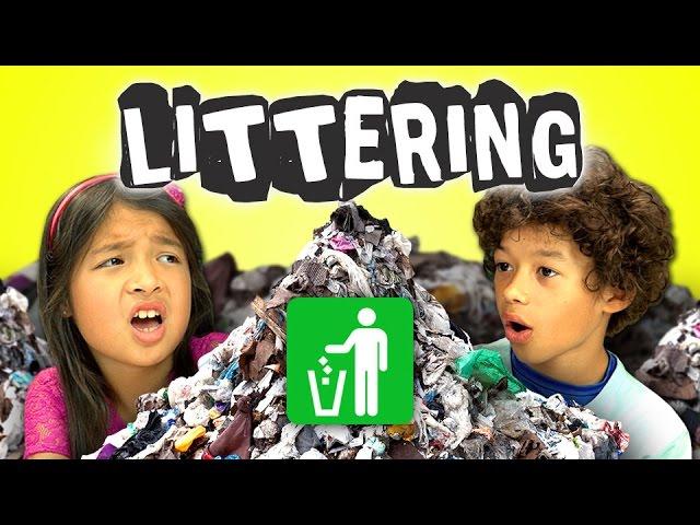 KIDS REACT TO LITTERING