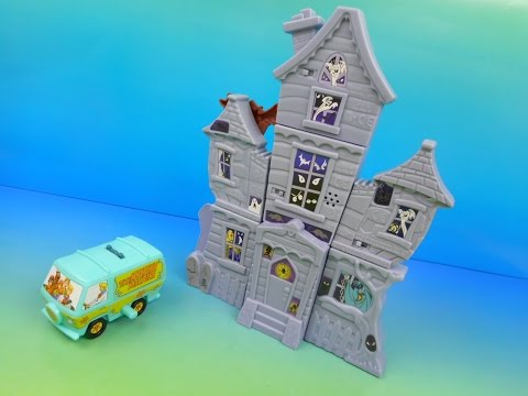 2015 SCOOBY-DOO and THE HAUNTED MANSION SET OF 8 BURGER KING KIDS MEAL TOYS VIDEO REVIEW