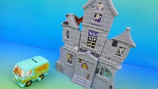 2015 SCOOBY-DOO and THE HAUNTED MANSION SET OF 8 BURGER KING KIDS MEAL TOYS REVIEW