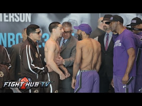 Danny Garcia vs. Lamont Peterson full video- Full weigh in + intense face off