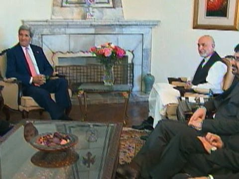Raw: Kerry Meets With President Karzai Overseas
