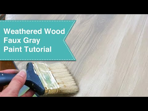 Faux Gray Weathered Wood Grain Tutorial Youtube