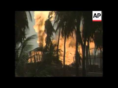 India - Andhra Pradesh Gas Well Fire Rages On