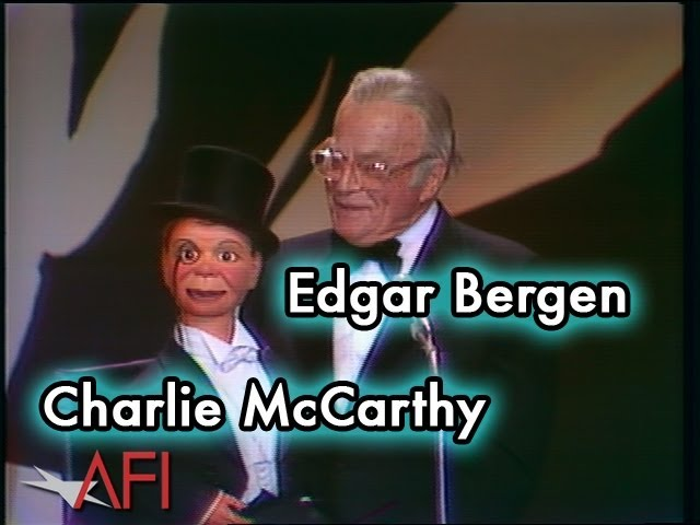 Edgar Bergen and Charlie McCarthy at the Orson Welles AFI Life Achievement Award