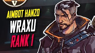 RANK 1 AIMBOT HANZO WRAXU 55 KILLS!! 20K DMG!! [ OVERWATCH SEASON 5 TOP 500 ]