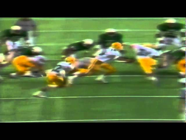Oregon RB Derek Loville 27 yard run vs. Hawaii 12-03-1988