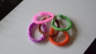 Bracelet Rainbow Loom simple ( double)
