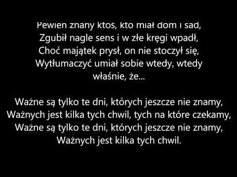 Marek Grechuta - Dni, Których Nie Znamy (tekst)
